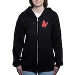 Pink Butterfly Hoodies Women's Jacket Sweatshi