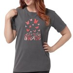 Pink Butterfly Womens Comfort Colors Shirt