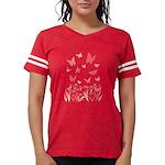 Pink Butterfly Womens Football Shirt