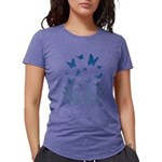 Pink Butterfly Womens Tri-blend T-Shirt
