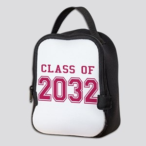 Class of 2032 (Pink) Neoprene Lunch Bag