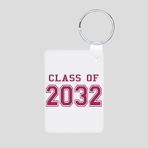 Class of 2032 (Pink) Aluminum Photo Keychain