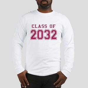 Class of 2032 (Pink) Long Sleeve T-Shirt