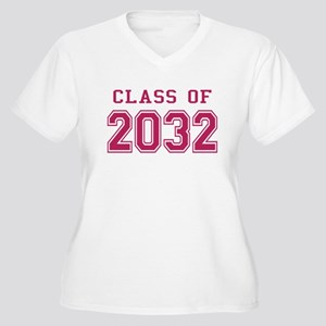 Class of 2032 (Pink) Women's Plus Size V-Neck T-Sh