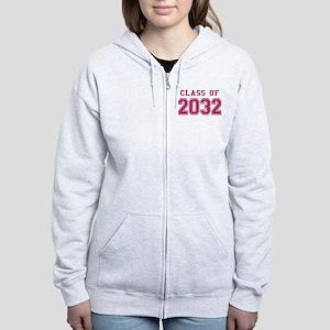 Class of 2032 (Pink) Women's Zip Hoodie