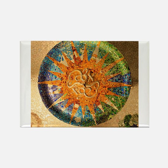 Park Guell Barcelona Rectangle Magnet