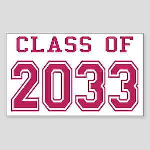 Class of 2033 (Pink) Sticker (Rectangle)