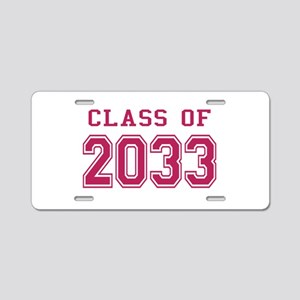 Class of 2033 (Pink) Aluminum License Plate