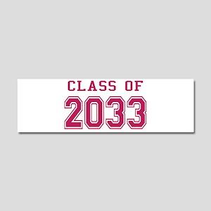 Class of 2033 (Pink) Car Magnet 10 x 3