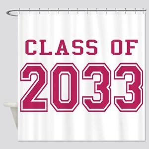 Class of 2033 (Pink) Shower Curtain