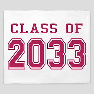Class of 2033 (Pink) King Duvet