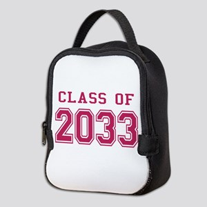 Class of 2033 (Pink) Neoprene Lunch Bag