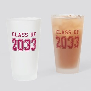 Class of 2033 (Pink) Drinking Glass