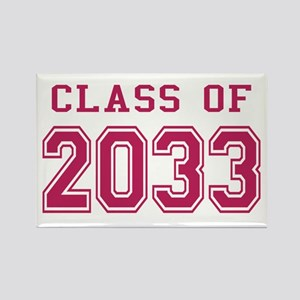 Class of 2033 (Pink) Rectangle Magnet