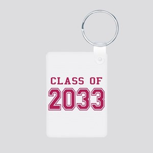 Class of 2033 (Pink) Aluminum Photo Keychain