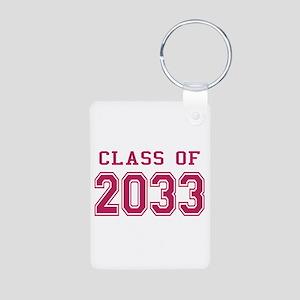 Class of 2033 (Pink) Aluminum Photo Keychain