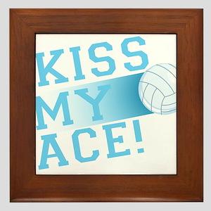 KissMyAce(volleyball) copy Framed Tile