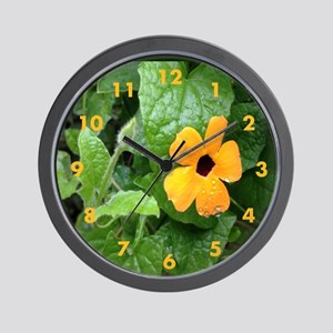 Black Eyed Susan Vine Wall Clock