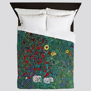 Farmergarden Sunflower by Klimt Queen Duvet