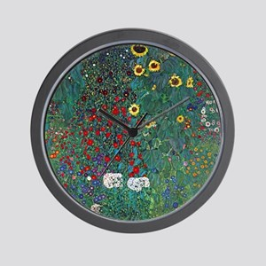 Farmergarden Sunflower by Klimt Wall Clock