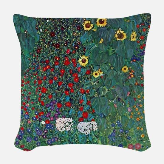 Farmergarden Sunflower by Klim Woven Throw Pillow