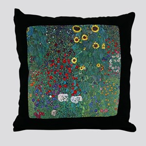 Farmergarden Sunflower by Klimt Throw Pillow