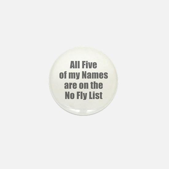 No Fly List Mini Button
