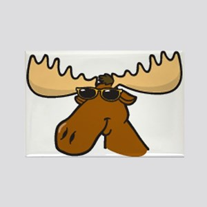 moose with sunglasses Rectangle Magnet