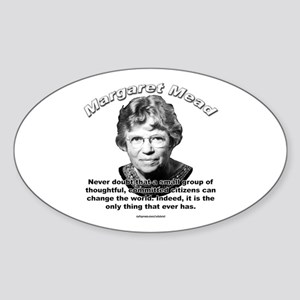Margaret Mead 01 Oval Sticker