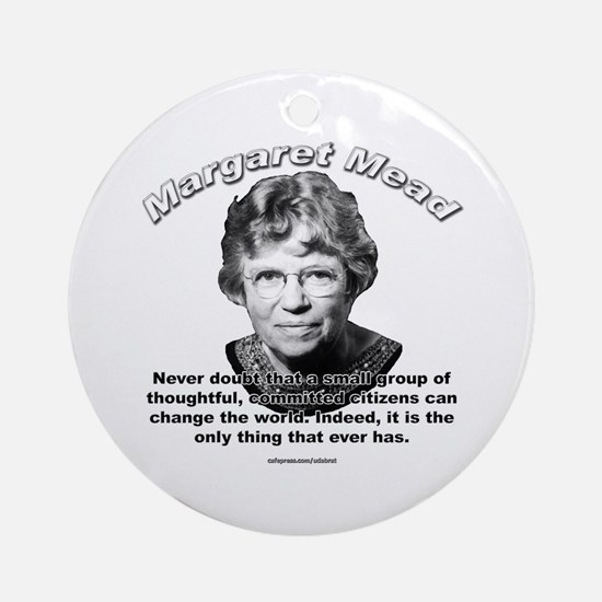 Margaret Mead 01 Ornament (Round)