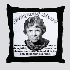 Margaret Mead 01 Throw Pillow