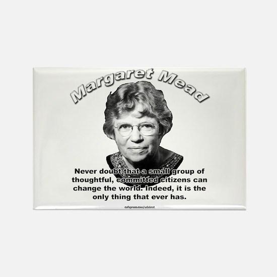 Margaret Mead 01 Rectangle Magnet