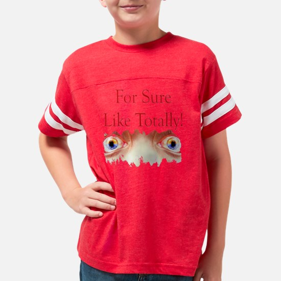 For Sure Eyes Youth Football Shirt