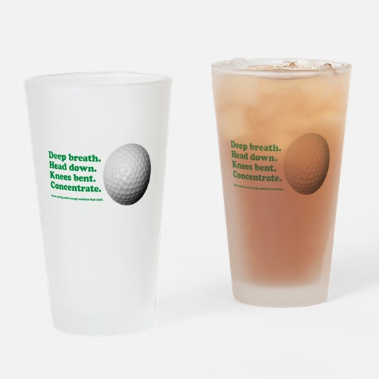 Funny How to Play Golf Shirt Design Drinking Glass