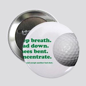 """Funny How to Play Golf Shirt Design 2.25"""" Button"""