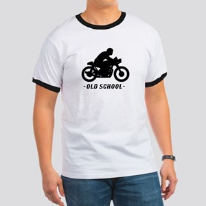Old School Cafe Racer Ringer T