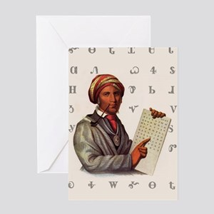 Sequoyah, The Cherokee Scholar Greeting Card