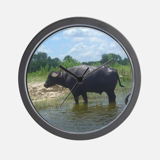 water buffalo Wall Clock