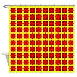 Red Gem Clover Shower Curtain