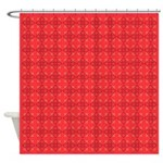Pink Gem Clover Shower Curtain