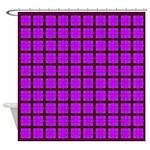 Lavender Gem Clover Shower Curtain