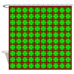 Green Gem Clover Shower Curtain