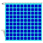 Blue Gem Clover Shower Curtain