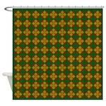 Brown Gem Clover Shower Curtain