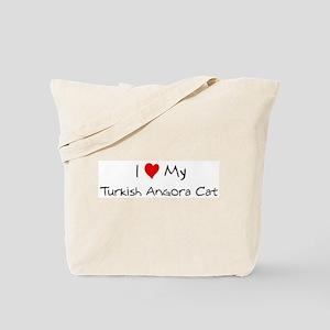 Love My Turkish Angora Cat Tote Bag