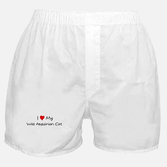 Love My Wild Abyssinian Cat Boxer Shorts