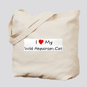 Love My Wild Abyssinian Cat Tote Bag