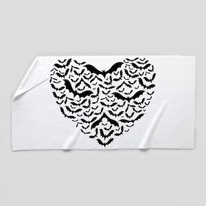 Bat heart Beach Towel