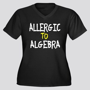 Allergic To Algebra Women's Plus Size V-Neck Dark