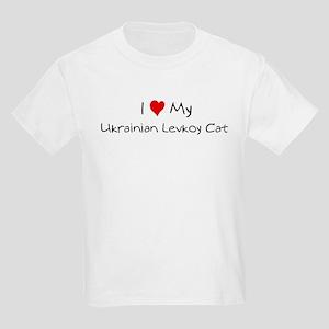 Love My Ukrainian Levkoy Cat Kids T-Shirt